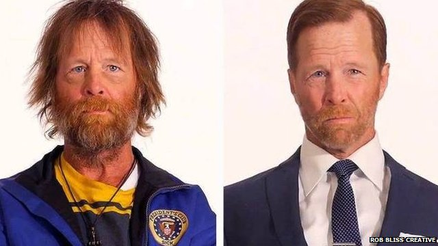 Jim Wolf before and after makeover