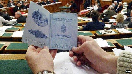Hungarian passport - file pic
