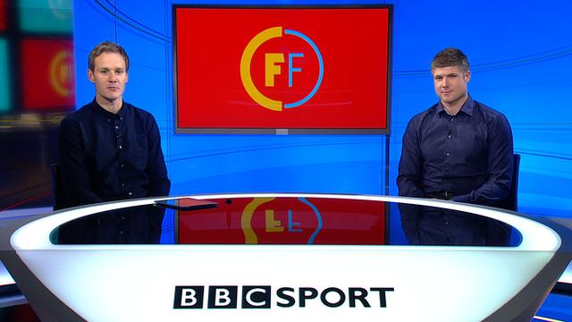 Dan Walker and former Liverpool striker Neil Mellor
