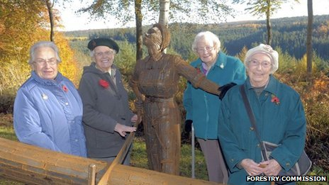 Edna Holland (left), 88, from Beverley trained as a lumberjill in Wetherby and worked across the North York Moors throughout the war.