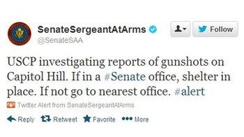 Tweet showing Twitter Alert