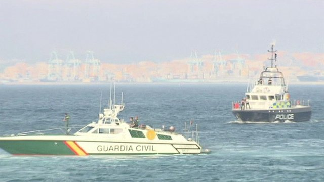 Authority boats patrol waters off Gibraltar