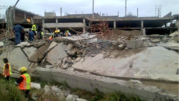Site of the collapse in Tongaat - tweeted by @CrisisMedDbn