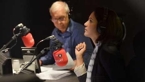 John Humphrys and Mishal Husain on the Today programme