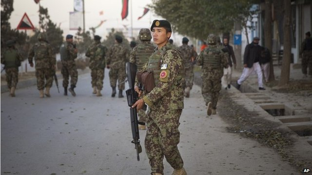 Soldiers on patrol ahead of Loya Jirga meeting
