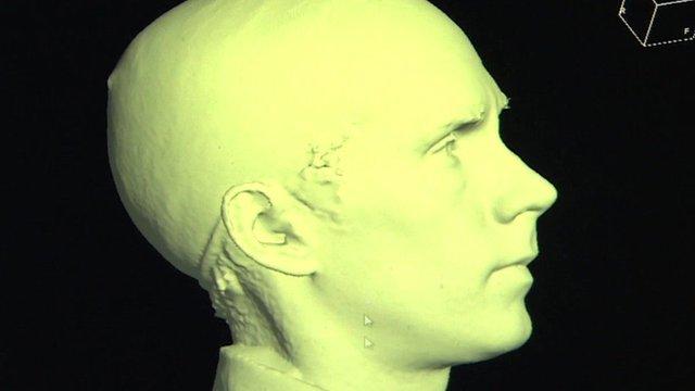 Scan of Tim Muffett's head