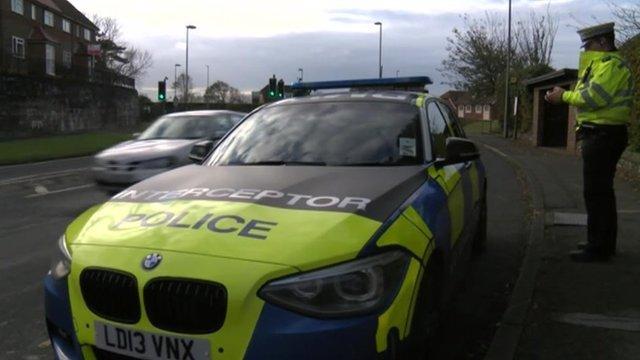 Sussex Police interceptor vehicle
