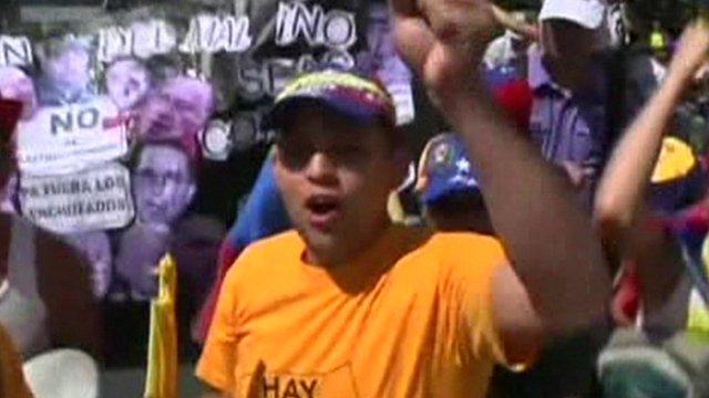Protestor in Venezuela