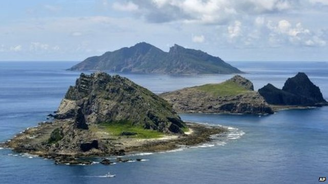Islands in the East China Sea, called Senkaku in Japanese and Diaoyu in Chinese