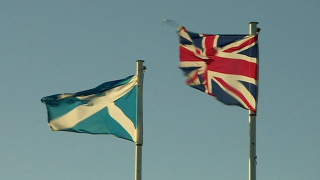 Scotland and Union flags