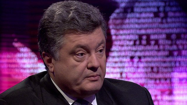 Ukrainian businessman and politician Petro Poroshenko.