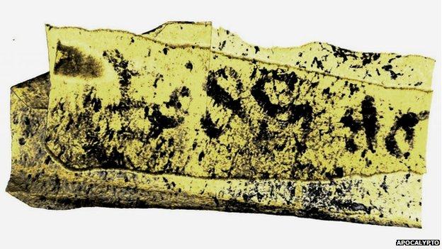 Apocalypto scan of Bressingham scroll
