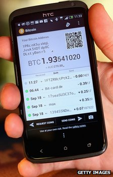 Bitcoin on a mobile phone