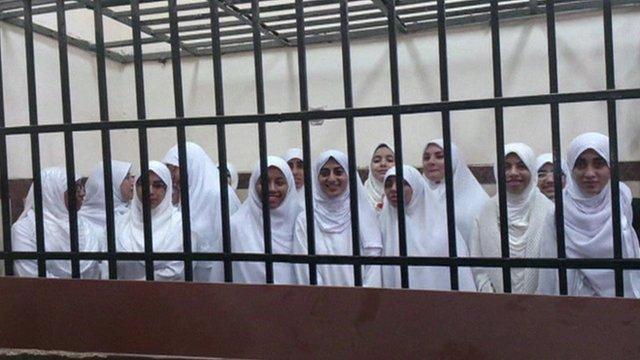 Jailed Egyptian teenagers