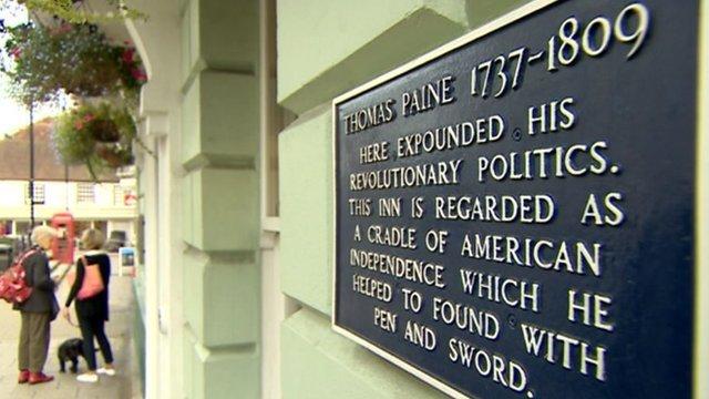 Thomas Paine plaque in Lewes