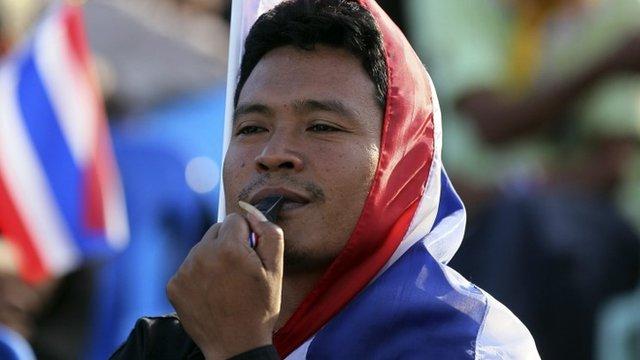 Anti-government protester Thailand