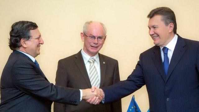 Viktor Yanukovych, Jose Manuel Barroso and Herman van Rompuy