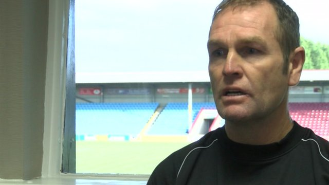 Scunthorpe United manager Russ Wilcox