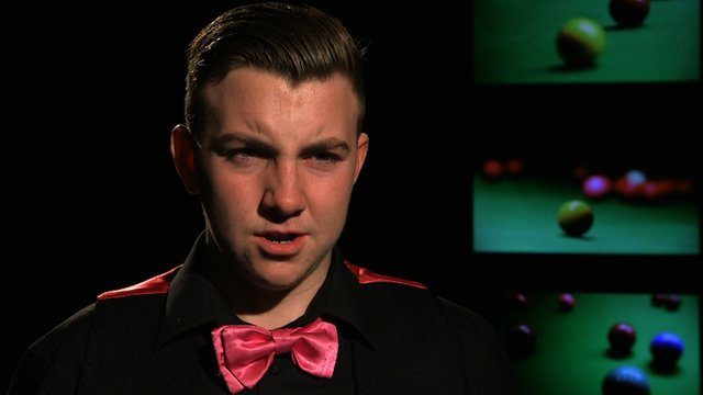 Shane Castle speaks after being defeated by Mark Selby