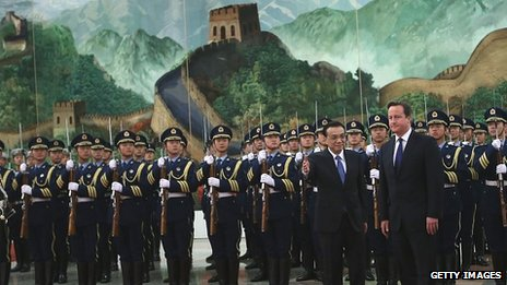 David Cameron with Chinese Premier Li Keqiang in Beijing