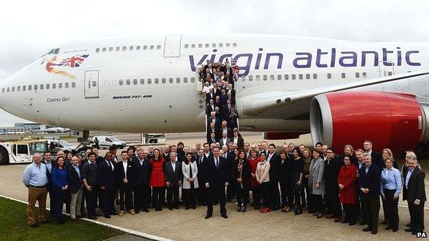 David Cameron and trade visit entourage