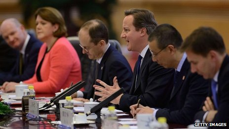 David Cameron was joined by his ministers Jeremy Hunt, Maria Miller and David Willetts