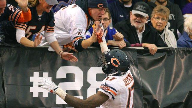 Chicago Bears receiver Alshon Jefferey
