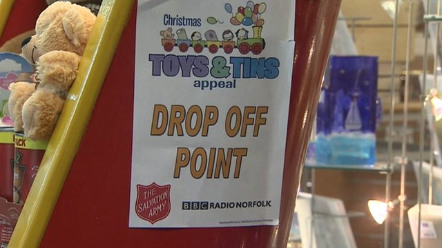 Drop-off popint for Toys and Tins appeal