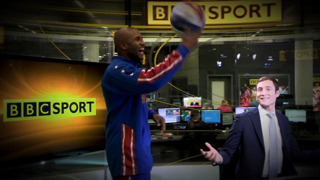 Harlem Globetrotter take over the BBC