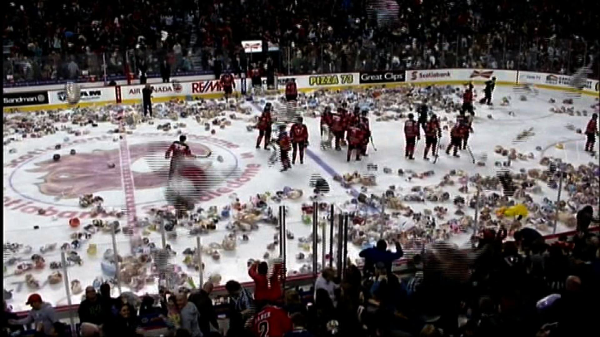 Goal triggers 26,000 teddy bear celebration