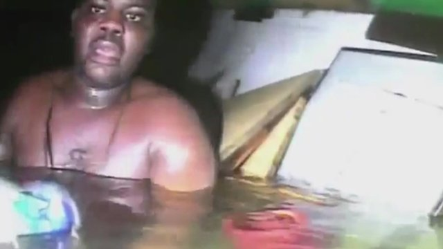 Harrision Okene in the boat's airpocket
