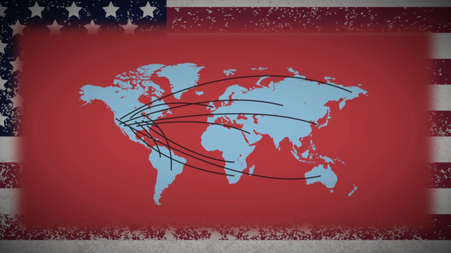 Graphic of US reaching across world