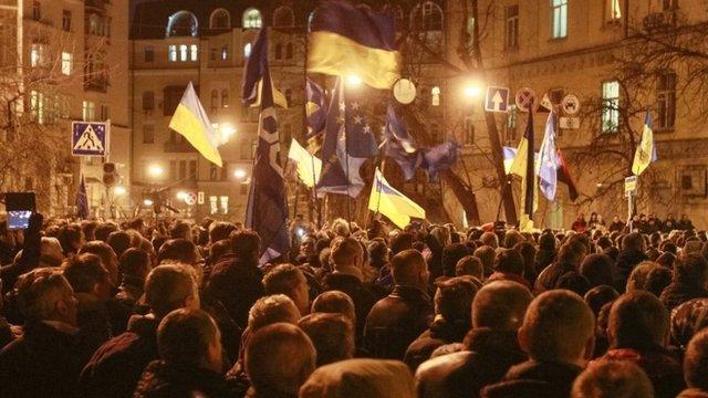 Pro-European protesters