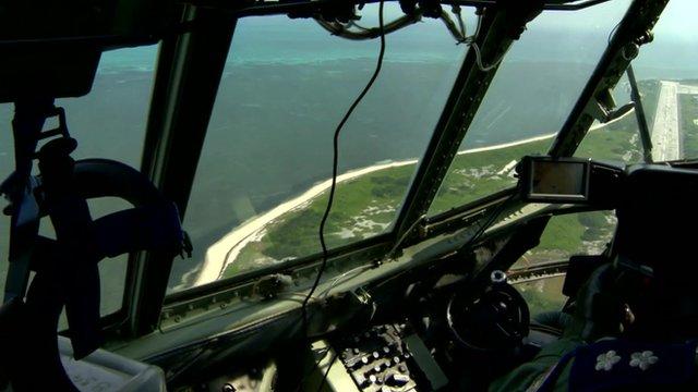 Flight over Dongsha