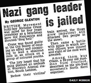 Story from the Daily Mirror on Nicky Crane sentencing