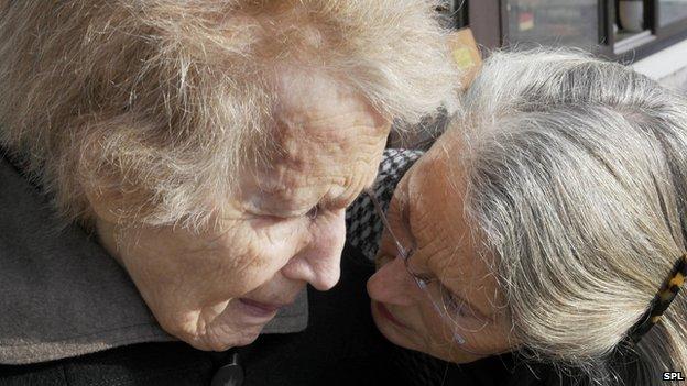 Elderly woman with dementia