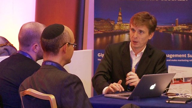 Businessmen at the Innovate Israel event in London