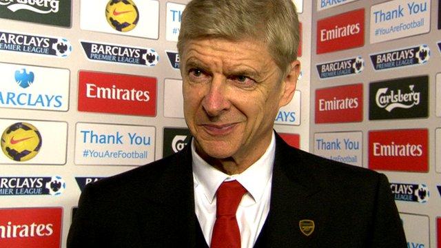 Arsene Wenger discusses Arsenal's 2-0 win over Hull