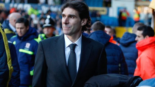 Middlesbrough boss Aitor Karanka on the touchline at Elland Road