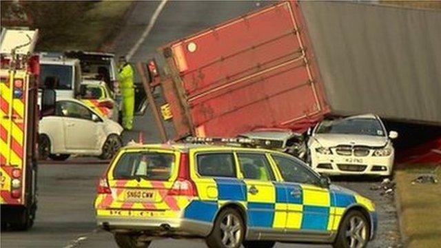 Lorry in West Lothian