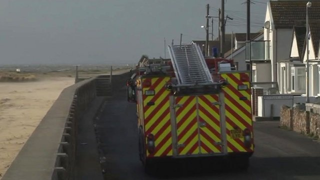 Fire engine at Jaywick