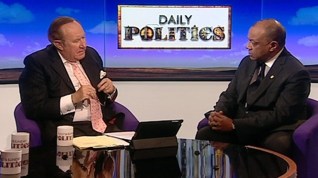 Andrew Neil and Paul Boateng