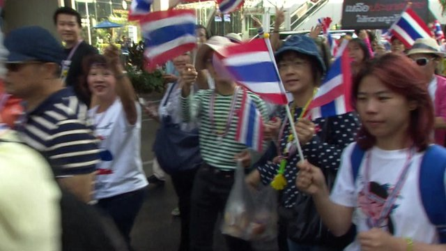 Protestors in Bangkok