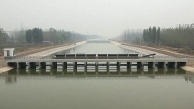 A reservoir in Shandong Province
