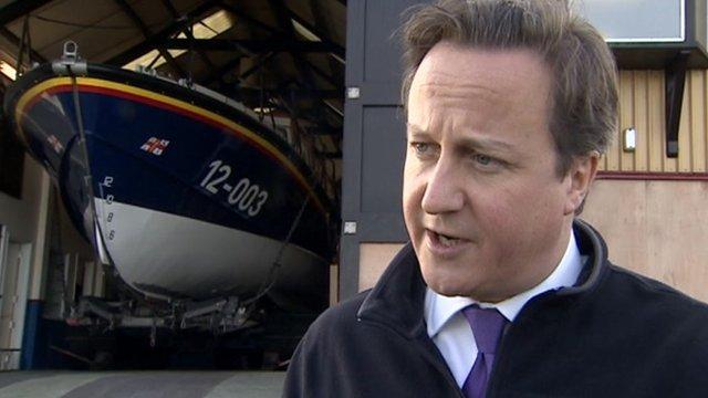 David Cameron in Wells-next-the-Sea
