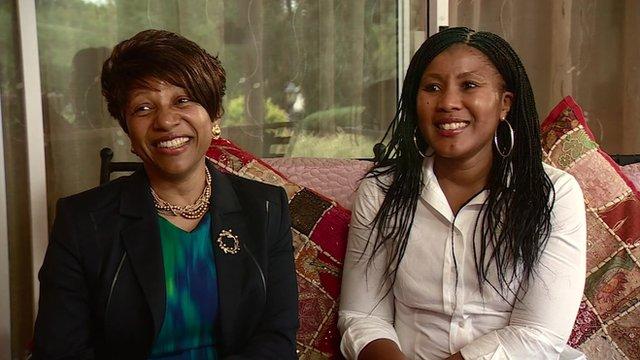 Nandi Mandela and Tukwini Mandela