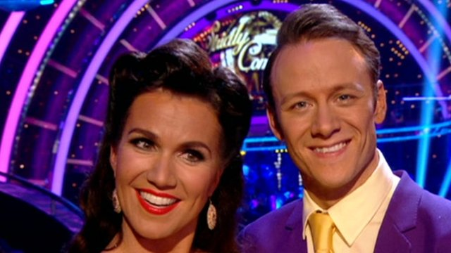 Susanna Reid and Kevin Clifton on Strictly Come Dancing