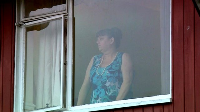 Patient looking out of window