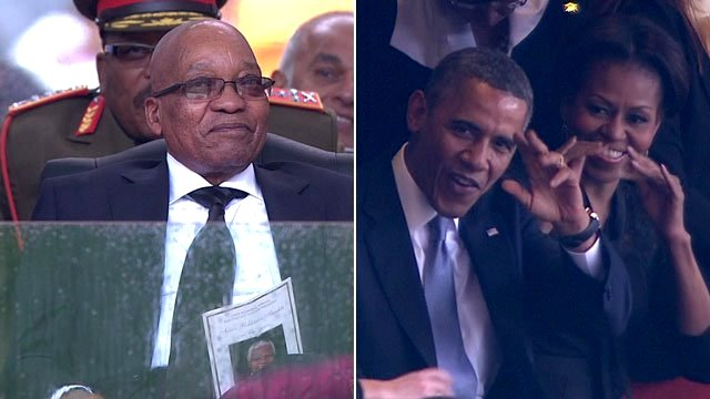 Jacob Zuma and Barack Obama