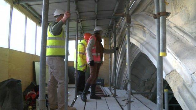 Restoration work at Canterbury Cathedral